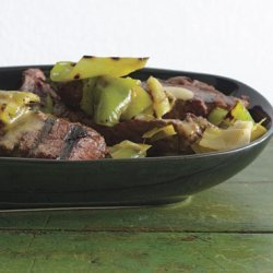 Grilled Steak and Peppers Vinaigrette recipe