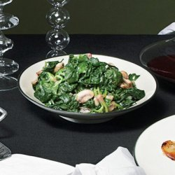 Spinach and Mushrooms with Truffle Oil recipe
