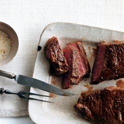Steak with Lemongrass Peppercorn Sauce recipe