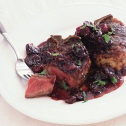 Lamb Chops with Dried Cherries and Port recipe