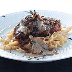Filet Mignon with Stroganov Sauce recipe