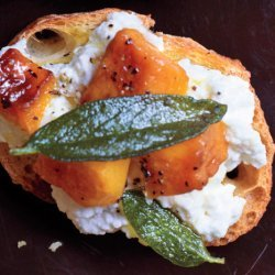 Butternut Squash, Ricotta, and Sage Crostini recipe