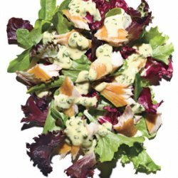 Spring Greens with Smoked Fish and Herbed Aioli recipe