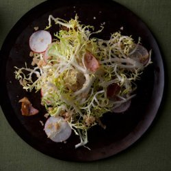 Frisée and Radish Salad with Hazelnut Dressing recipe
