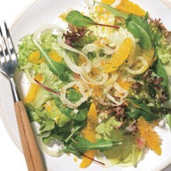 Mixed Greens with Tangerines and Fennel recipe