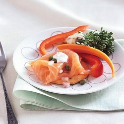 Smoked Salmon Platter with Dill Sour Cream recipe