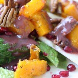 Roasted Butternut Squash & Pear Salad recipe
