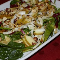 Spinach Salad With Apples And Fennel recipe