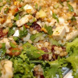 Turkey And Israeli Couscous Salad With A Curry Vin... recipe