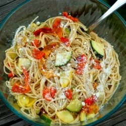 Grilled Sweet Pepper And Summer Vegetable Pasta Sa... recipe