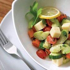 Marinated Vegetable Salad With Mozzarella Or Feta recipe