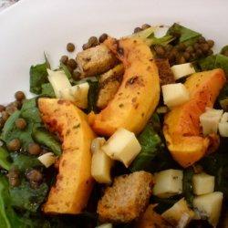 Roasted Squash And Puy Lentil Salad recipe