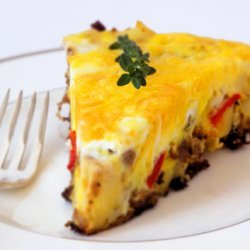 Sausage Pepper And Caramelized Onion Frittata recipe