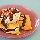 Crepes With Ice Cream And Chocolate Sauce recipe
