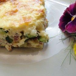 Bacon Zucchini Quiche recipe
