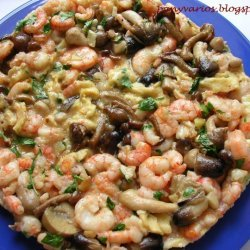 Shrimps And Mushrooms Frittata recipe