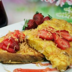 Coconut French Toast With Coconut Strawberry Syrup recipe