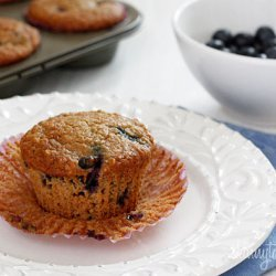 Insanely Good Blueberry Oatmeal Muffins recipe