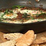 Baked Eggs With Tomato Herbs And Spinach recipe