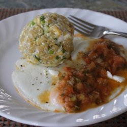 Mother's Fried Green Plantain Dumplings W/ Tomat... recipe