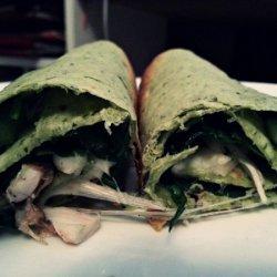 Green Chicken Wrap recipe