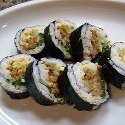 Korean Kimbab Shushi Roll recipe