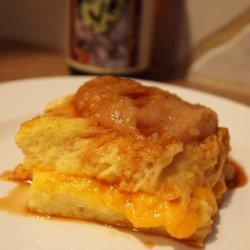 Cheddar Cheese Bread Pudding With Apple Butter And... recipe