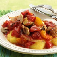Roasted Vegetable In Tomato Sauce recipe
