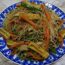 Vegetarian Rice Vermicelly Stir Fry recipe