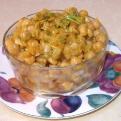 Spicy Curried Chickpeas recipe