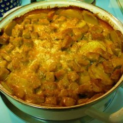 Cheesy Potato And Pork Casserole recipe