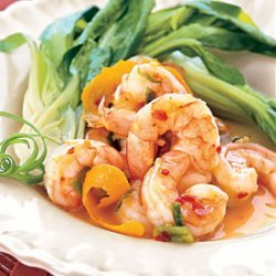 Spicy-Sweet Tangerine Shrimp with Baby Bok Choy recipe