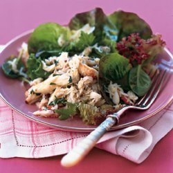 Lemony Crab Salad with Baby Greens recipe