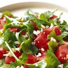 Watermelon, Arugula, and Pine Nut Salad recipe