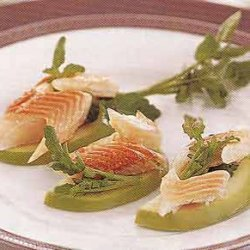 Smoked Trout and Watercress on Tart Apple Slices recipe