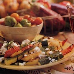 Grilled Ratatouille Salad with Feta Cheese recipe