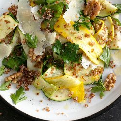 Summer Squash and Red Quinoa Salad with Walnuts recipe