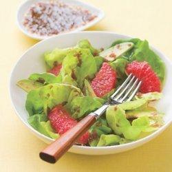 Grapefruit and Avocado Salad with Ginger-Cassis Dressing recipe