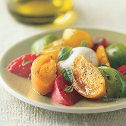 Heirloom Tomato and Burrata Cheese Salad recipe