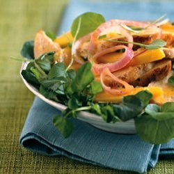 Chicken and Mango Salad with Ginger-Orange Dressing recipe
