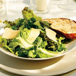 Red Leaf Caesar Salad with Grilled Parmesan Croutons recipe