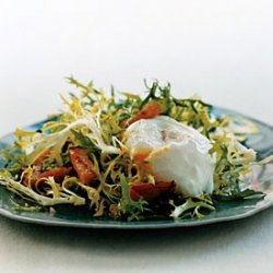 Salad with Canadian Bacon and Poached Eggs recipe