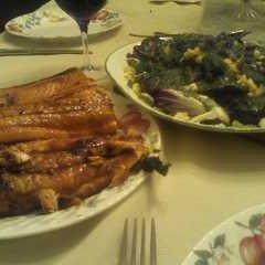 Grilled Eggplant And Feta Salad recipe
