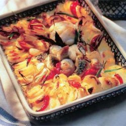 Fish Fillets Baked With Potatoes recipe