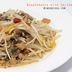 Bean Sprouts With Salted Fish recipe