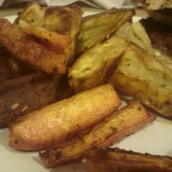 Spicy Sweet Potato And Carrot Wedges recipe