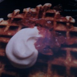 Rachael Rays Savory Ricotta Waffles With Red Hot J... recipe