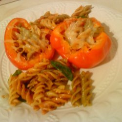 Stuffed Peppers With Pasta recipe