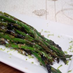 Grilled Asparagus With Margarita Butter recipe