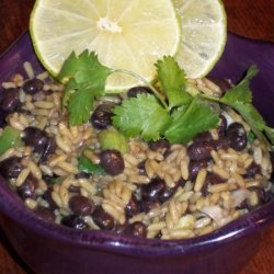 Fried Mexican Rice And Black Beans recipe